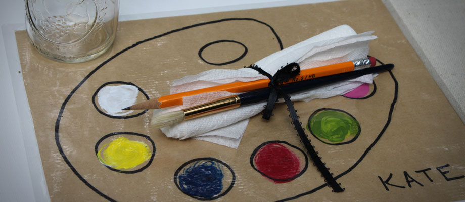 Art Party Palette and Brushes